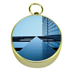 Architecture Modern Building Facade Gold Compasses