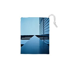 Architecture Modern Building Facade Drawstring Pouches (xs)