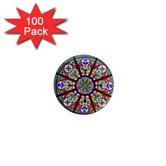 Church Window Window Rosette 1  Mini Magnets (100 Pack)