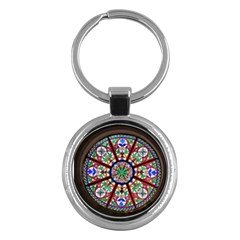 Church Window Window Rosette Key Chains (round)