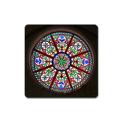 Church Window Window Rosette Square Magnet