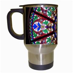 Church Window Window Rosette Travel Mugs (white)