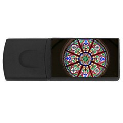 Church Window Window Rosette Rectangular Usb Flash Drive