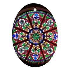 Church Window Window Rosette Oval Ornament (two Sides)