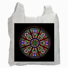 Church Window Window Rosette Recycle Bag (one Side)