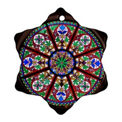 Church Window Window Rosette Snowflake Ornament (two Sides)