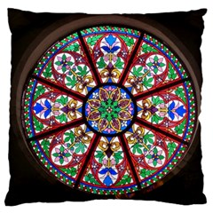 Church Window Window Rosette Large Cushion Case (two Sides)