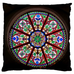 Church Window Window Rosette Standard Flano Cushion Case (two Sides)