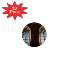 Church Window Church 1  Mini Magnet (10 Pack)