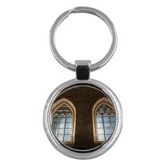 Church Window Church Key Chains (round)