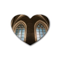 Church Window Church Heart Coaster (4 Pack)