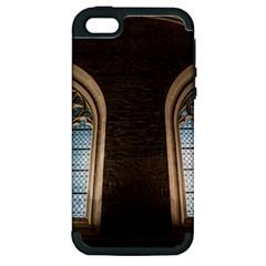 Church Window Church Apple Iphone 5 Hardshell Case (pc+silicone)