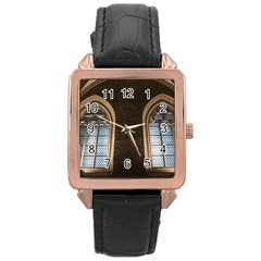 Church Window Church Rose Gold Leather Watch