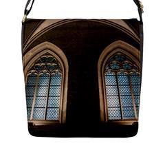 Church Window Church Flap Messenger Bag (l)