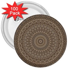 Background Mandala 3  Buttons (100 Pack)