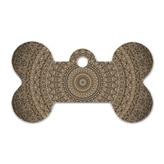 Background Mandala Dog Tag Bone (one Side)