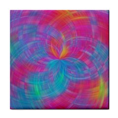 Abstract Fantastic Fractal Gradient Tile Coasters