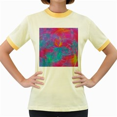 Abstract Fantastic Fractal Gradient Women s Fitted Ringer T Shirts