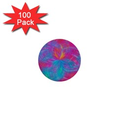 Abstract Fantastic Fractal Gradient 1  Mini Buttons (100 Pack)