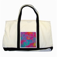 Abstract Fantastic Fractal Gradient Two Tone Tote Bag
