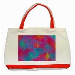 Abstract Fantastic Fractal Gradient Classic Tote Bag (red)