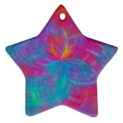 Abstract Fantastic Fractal Gradient Star Ornament (two Sides)