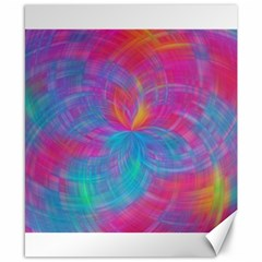 Abstract Fantastic Fractal Gradient Canvas 8  X 10