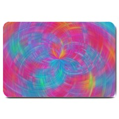 Abstract Fantastic Fractal Gradient Large Doormat