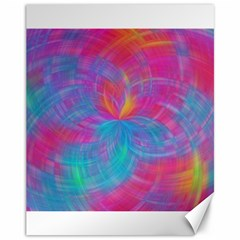 Abstract Fantastic Fractal Gradient Canvas 11  X 14