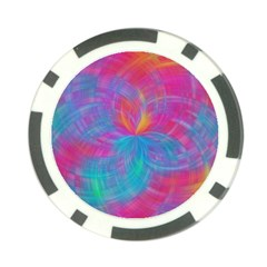 Abstract Fantastic Fractal Gradient Poker Chip Card Guard (10 Pack)
