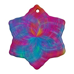 Abstract Fantastic Fractal Gradient Snowflake Ornament (two Sides)