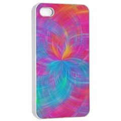 Abstract Fantastic Fractal Gradient Apple Iphone 4/4s Seamless Case (white)