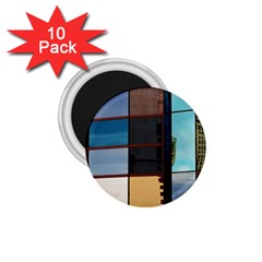 Glass Facade Colorful Architecture 1 75  Magnets (10 Pack)