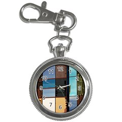 Glass Facade Colorful Architecture Key Chain Watches