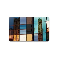 Glass Facade Colorful Architecture Magnet (name Card)