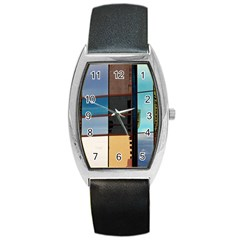 Glass Facade Colorful Architecture Barrel Style Metal Watch