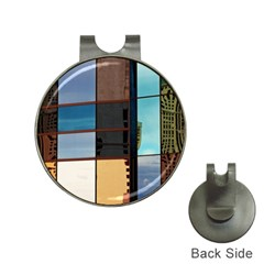 Glass Facade Colorful Architecture Hat Clips With Golf Markers