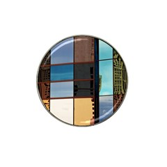 Glass Facade Colorful Architecture Hat Clip Ball Marker (4 Pack)