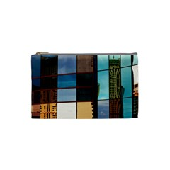 Glass Facade Colorful Architecture Cosmetic Bag (small)