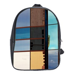 Glass Facade Colorful Architecture School Bag (large)