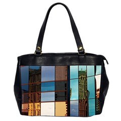 Glass Facade Colorful Architecture Office Handbags (2 Sides)