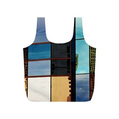 Glass Facade Colorful Architecture Full Print Recycle Bags (s)