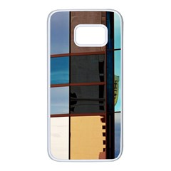 Glass Facade Colorful Architecture Samsung Galaxy S7 White Seamless Case