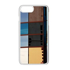 Glass Facade Colorful Architecture Apple Iphone 8 Plus Seamless Case (white)