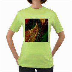 Graphics Imagination The Background Women s Green T Shirt