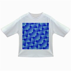 Gradient Blue Pinstripes Lines Infant/toddler T Shirts