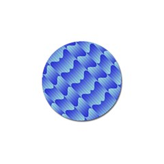 Gradient Blue Pinstripes Lines Golf Ball Marker