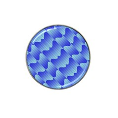 Gradient Blue Pinstripes Lines Hat Clip Ball Marker (10 Pack)