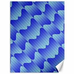 Gradient Blue Pinstripes Lines Canvas 36  X 48
