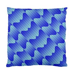 Gradient Blue Pinstripes Lines Standard Cushion Case (two Sides)